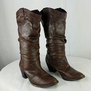 Soda brown Cowboy boots mid-calf Size 9.5